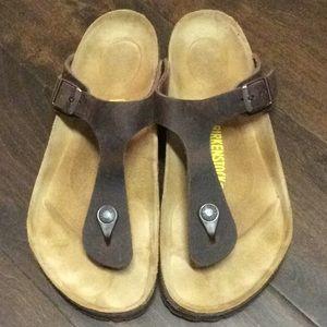 c0a99e2b506d Birkenstock Shoes - Birkenstock Gizeh full grain leather Sz 39